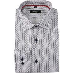 Koszula męska Bello casual w abstrakcyjnym wzorze
