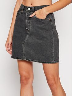 Levi's® Spódnica jeansowa Decon Iconic 77882-0018 Czarny Regular Fit