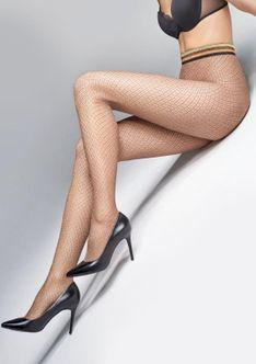 Błyszczące Rajstopy Kabaretki Charly S11 Marilyn