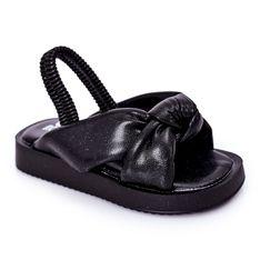 FR1 Dziecięce Sandały Ze Ściągaczem Czarne Bubble Gum