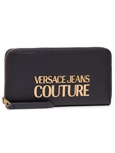 Versace Jeans Couture Duży Portfel Damski E3VWAPL1 Czarny