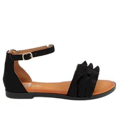 Sandałki damskie czarne S060195 Black