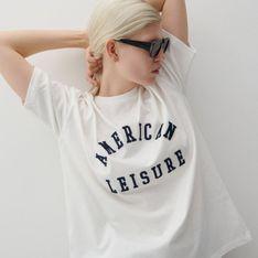 Reserved - Bawełniany t-shirt z nadrukiem - Kremowy