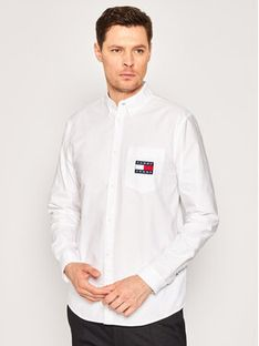 Tommy Jeans Koszula Oxford DM0DM07895 Biały Regular Fit