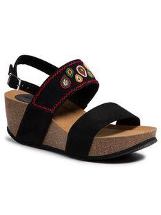 Desigual Sandały Leo Beads 21SSHA17 Czarny