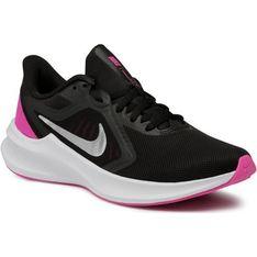 Nike buty sportowe damskie downshifter czarne na płaskiej podeszwie