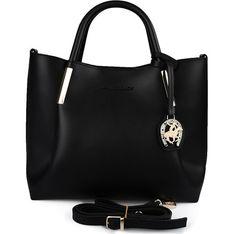 Shopper bag Beverly Hills Polo Club skórzana