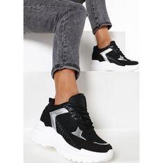 Buty sportowe damskie Born2be młodzieżowe wiązane