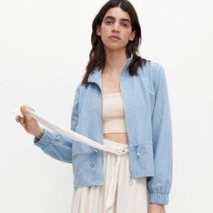 Reserved - Kurtka z lekko aksamitnej tkaniny - Niebieski
