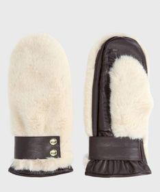 Beżowe rękawiczki damskie