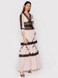 Babylon Sukienka wieczorowa N_E00718 Różowy Regular Fit
