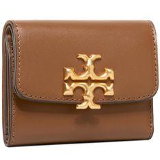 Mały Portfel Damski TORY BURCH - Elenor Compact Wallet 73519 Moose 909
