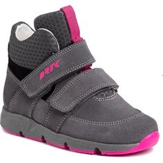 Buty zimowe dziecięce Bartek na rzepy wielokolorowe bez wzorów