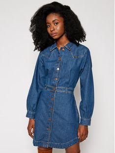 Wrangler Sukienka jeansowa Western W9P4LLX8E Niebieski Regular Fit