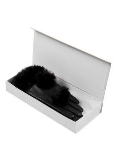 Skórzane rękawiczki ze sztucznym futerkiem