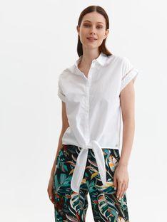 Koszula damska z krótkim rękawem i wiązaniem