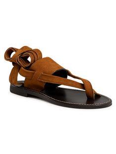TWINSET Sandały Sandalo 211TCT060 Brązowy