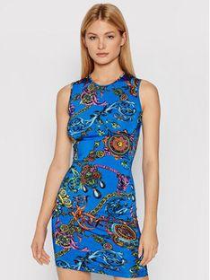 Versace Jeans Couture Sukienka codzienna 71HAO901 Niebieski Slim Fit