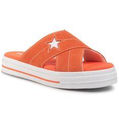 Klapki CONVERSE - One Star Sandal Slip 564146C  Turf Orange/Egret/White