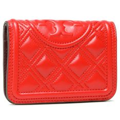 Duży Portfel Damski TORY BURCH - Fleming Medium Slim Wallet 79404 Bearberry 608