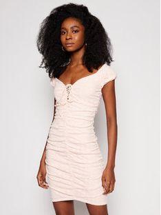 Guess Sukienka letnia W1GK0F KALQ0 Różowy Slim Fit