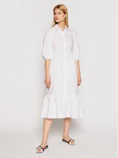 Patrizia Pepe Sukienka koszulowa 2A2218/A9B9-W103 Biały Oversize