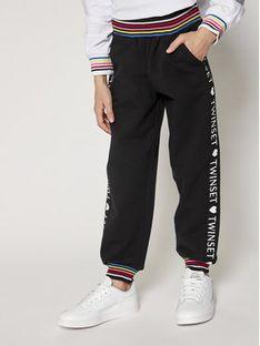 TwinSet Spodnie dresowe 999GJ2014 Czarny Regular Fit