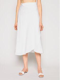 Seafolly Spódnica midi Essential Bias Wrap 54213-SK Biały Regular Fit