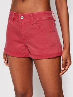 Pepe Jeans Szorty jeansowe Siouxie PL800685YE4 Czerwony Regular Fit