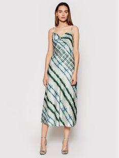 Guess Sukienka letnia Akilina W1GK0K WD8G0 Zielony Slim Fit