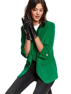 Eleganckie rękawiczki z zapięciem z boku