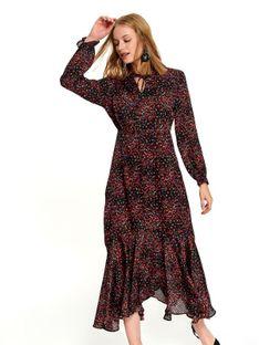 Długa printowana sukienka