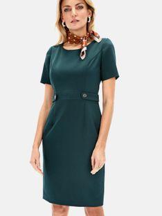 Elegancka sukienka z dekorującym akcentem w talii L`AF GRETA