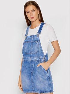 Tommy Jeans Sukienka jeansowa Class Dungaree DW0DW10323 Niebieski Regular Fit