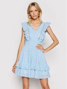 Guess Sukienka letnia W1GK0H WDVE1 Niebieski Regular Fit