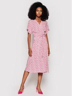 Tommy Hilfiger Sukienka codzienna Wrap WW0WW31262 Różowy Regular Fit