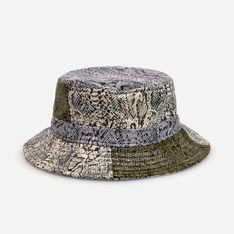 Reserved - Dwustronny kapelusz z motywem skóry węża - Wielobarwny