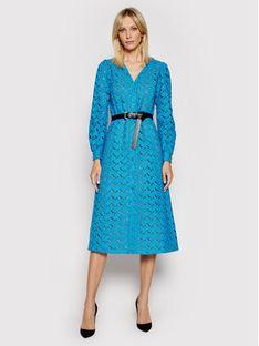 MICHAEL Michael Kors Sukienka codzienna Kate MS18Y461FU Niebieski Regular Fit