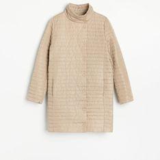 Reserved - Lekki pikowany płaszcz - Beżowy