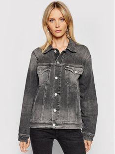 Tommy Jeans Kurtka jeansowa Trucker DW0DW10260 Szary Oversize
