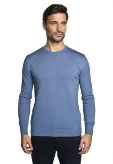 Sweter bawełniany niebieski Recman DARTON PM 0001