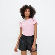 Mohito - Bluzka z bufkami - Różowy