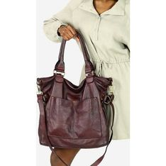 Shopper bag Mazzini duża na ramię skórzana