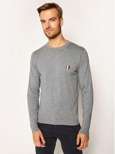 Tommy Hilfiger Sweter Modern Essential MW0MW15476 Szary Regular Fit