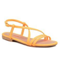 Sandały MY TWIN - Sandal 201MCT010 Arancio Fluo 00104