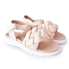 FR1 Dziecięce Sandały Z Plecionką Różowe Adella