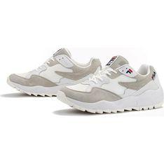 Buty sportowe damskie Fila do biegania płaskie z gumy gładkie sznurowane na wiosnę