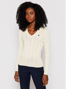 Polo Ralph Lauren Sweter Kimberly 211580008026 Beżowy Regular Fit