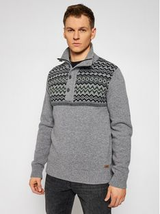 CMP Sweter 7H77042 Szary Regular Fit