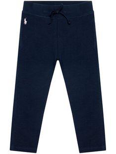 Polo Ralph Lauren Spodnie dresowe Fleece Leggi 311698768002 Granatowy Slim Fit